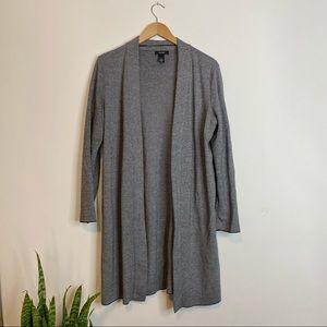 Alfani Grey Knit Duster Sweater